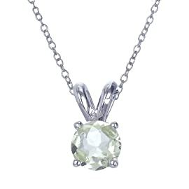 Sterling Silver Lemon Quartz Pendant With 18