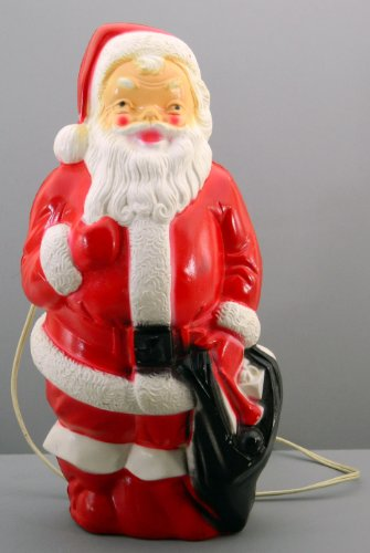 Light Up Santa Claus Empire 1968 Blow Mold Vintage Christmas Decoration