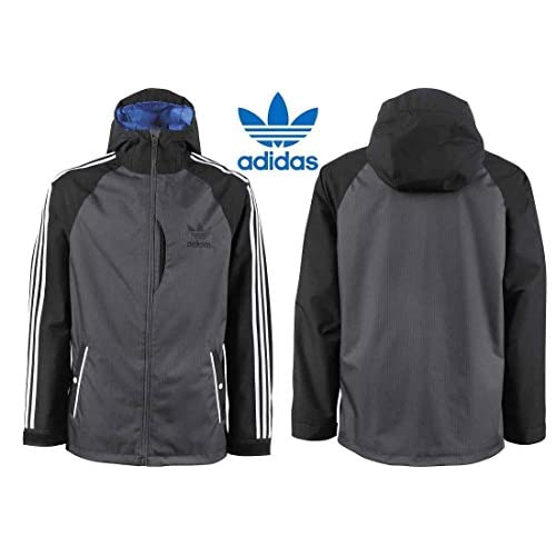 2015■ADIDAS■SNOWBOARDING■3 STRIPE JACKET JACKET■BLACK/DARK GREY■L