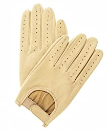 Pratt and Hart Men's Deerskin Leather Driving Gloves Size M Color Tan