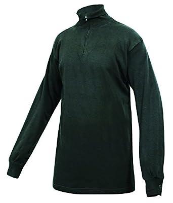Norwegian Army Style Fleece Lined Shirt (L, Black)