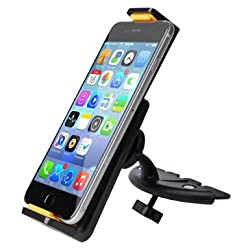 Car Mount, Ipow 360°Rotation Smartphone Tablet CD Slot Car Mount Holder Cradle For iPad Mini 4 3 2 1,Samsung GALAXY Tab,with Adjustable Padded Grip