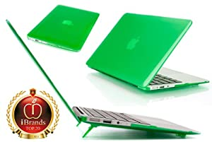 iPearl mCover Hard Shell Cover Case For 11.6-inch Apple MacBook Air A1370 & A1465 - GREEN