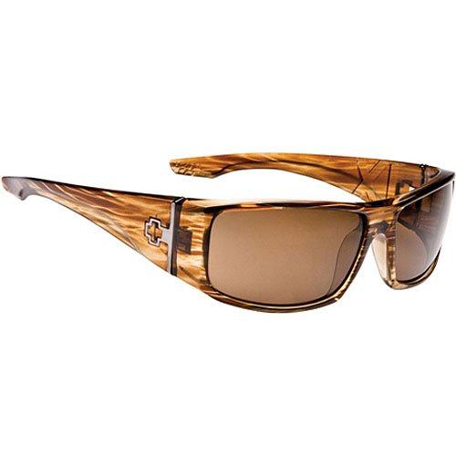 Spy Cooper XL Sunglasses - Spy Optic Steady Series Polarized Sports Wear Eyewear - Color: Shiny Brown Stripe Tortoise/Bronze, Size: One Size Fits All