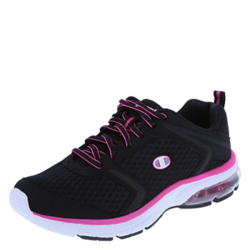 Champion Women's Black Pink Women's Launch Window Runner 7.5 Regular (Champion Womens Footwear compare prices)