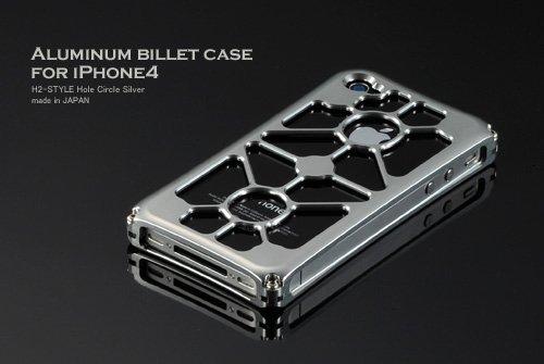 アルミビレットケース for iPhone4 / ホールCIRCLE シルバー