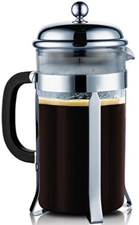 SterlingPro 8 Cup (4 oz each)- Durable Coffee & Espresso Maker with Stainless Steel Plunger & Heat Resistant Glass