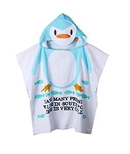 V-SOL Toalla De Baño Con Capucha Para Bebé Niños Pinguino