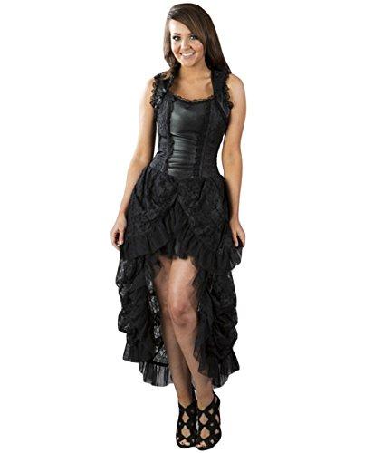 Burleska-Corsetto vestito-Isabella Brocade Nero Dress Vittoriano nero 50