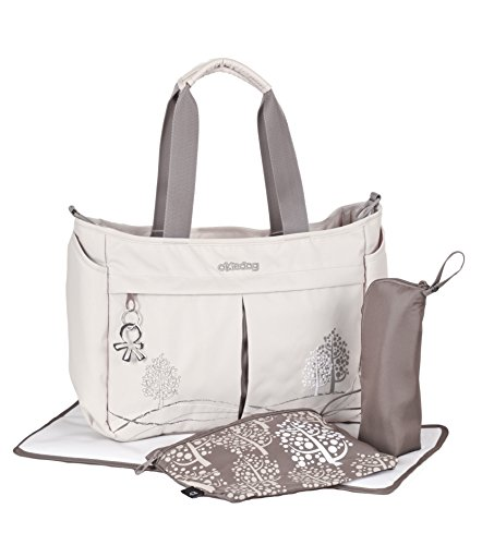 okiedog Metro Messenger diaper bag (oyster grey) - 1
