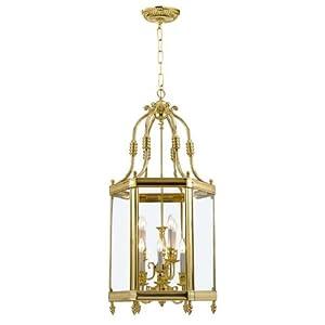 Crystorama Lighting 949-PB Lantern, Polished Brass