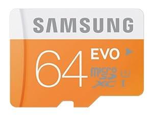 Samsung Electronics 64GB EVO Micro SDXC with Adapter Upto 48MB/s Class 10 Memory Card (MB-MP64DA/AM)