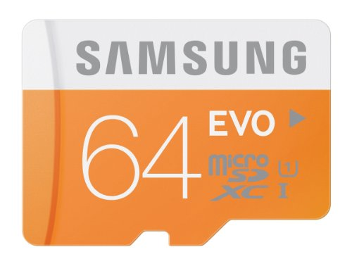 Samsung Electronics 64GB EVO Micro SDXC with Adapter Up to 48MB/s Class 10 Memory Card (MB-MP64DA/AM)
