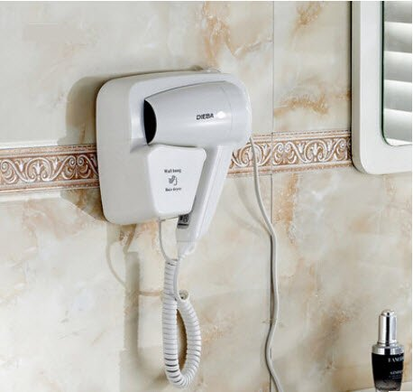 Retail Bathroom Wall-Mounted Hair Dryer Wall Hair Skin Dryer Bathroom White Color Beauty Hair Dryer front-78712