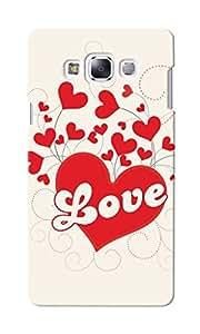 CimaCase Love Hearts Designer 3D Printed Case Cover For Samsung Galaxy E7