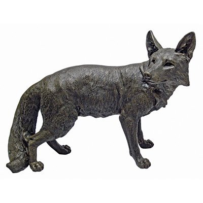 Design Toscano Bushy Tail Fox Statue, Bronze