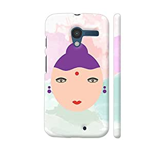 Colorpur Cute Cartoon Girl Face Designer Mobile Phone Case Back Cover For Motorola Moto X1 | Artist: Designer Chennai