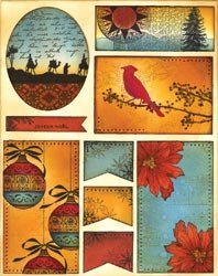 Penny Black Christmas Sticker Sheet 7'X9' Christmas At Dusk; 4 Items/Order