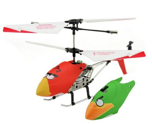 DUSIEC New Hot Sell Angry Bird Remote-Controlled RC Helicopter,Comes with One Extra Body Red