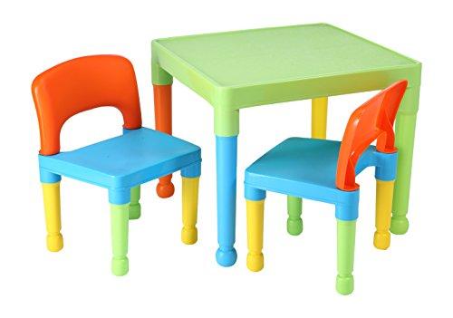 Liberty House Toys - Gioco da tavolo per bambini e 2 sedie, plastica, colore: multicolore