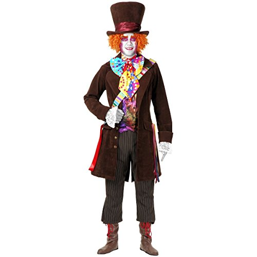 [GSG Electric Mad Hatter Adult Alice in Wonderland Halloween Costume] (Plus Size Dark Mad Hatter Costume)