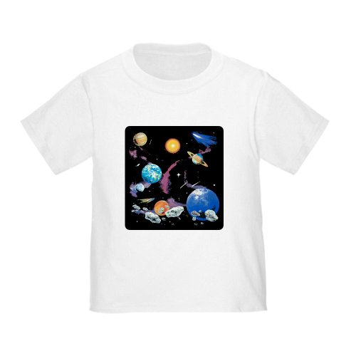 Artsmith, Inc. Toddler T-Shirt Solar System And Asteroids - White, 4T
