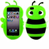 Bumble Bee Silicone Case Cover Shell For Apple iPhone 5 5S / Green