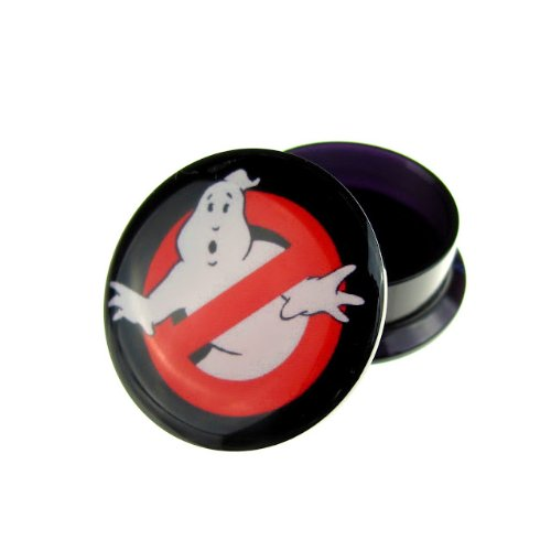 Jewellery of Lords 8mm Ghostbusters Ghost Busters Flesh Tunnel Stretcher Screw Hole Ear Single Plastic Plug