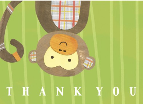 C. R. Gibson Thank You Notes, Monkey front-3246