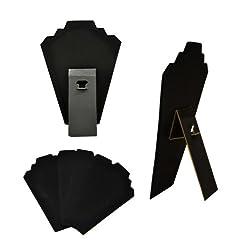 5 Black Velvet Necklace Displays Jewelry Displays Wholesale Necklace Displays