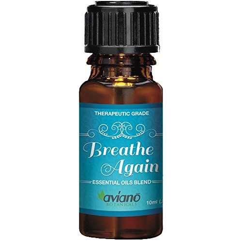 #1 Breathe Again Essential Oils Blend for Sinus Relief - Supports Allergies, Cold & Congestion Relief - 100% Pure & Therapeutic Grade by Aviano Botanicals (Vapor Oil Diffuser compare prices)