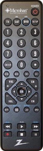 Amertac - Zenith Zc300Mb Microban 3-Device Universal Remote, Black