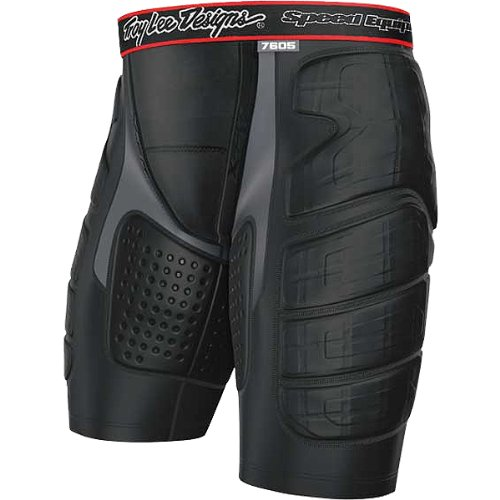 Troy Lee Designs BP 7605 Shorts Youth Undergarment MX/Off-Road/Dirt Bike Motorcycle Body Armor - Black / Medium