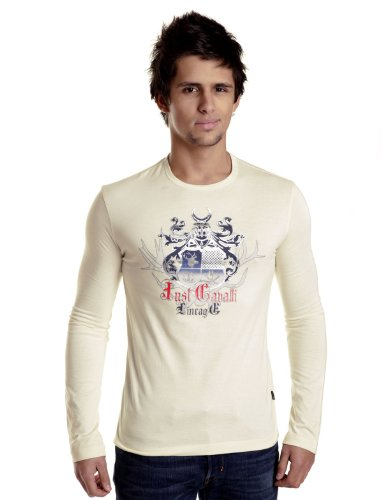 Cavalli 82601-012 Straight Off-white Man T-shirts Make Men - Xl