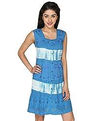 LOL Fabulous Blue Cotton Tie-dye Casual Top