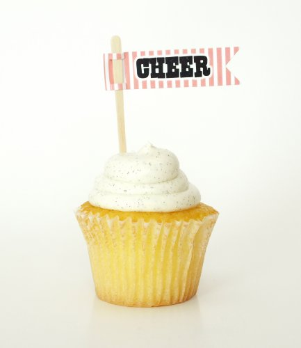 """Cheer"" Sports Or Cheerleading Cupcake Toppers, Pink (Set Of 12) - Sports Games Or Dance Cake Picks front-993298"