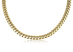 """14K Solid Yellow Gold Original Handmade Cuban Curb Link Chain / Necklace 7mm Wide 30"""" inch Long."""
