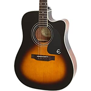 epiphone pro 1 ultra solid top acoustic electric guitar system for beginners gloss. Black Bedroom Furniture Sets. Home Design Ideas