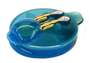 Vital Baby 49060 - Vajilla de aprendizaje con separador, color amarillo y azul por Vital Baby en BebeHogar.com