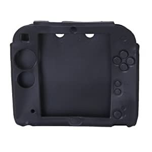 Generic Protective Silicone Case Cover for Nintendo 2DS---Black