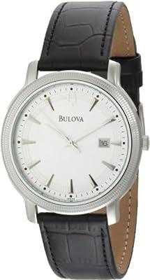 Bulova Men's 96B120 Silver Dial Strap Watch by Bulova