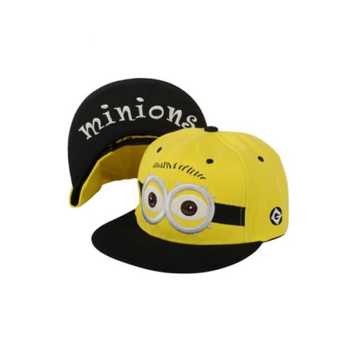 [Despicable Me 2 Minion Kids Adults Adjustable Baseball Cap Snapback Hip-Hop Hat] (Despicable Me Minion Hats)