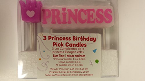Way to Celebrate Princess Pick Candles - 1