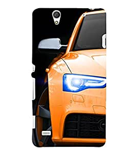 Stylish Yellow Car 3D Hard Polycarbonate Designer Back Case Cover for Sony Xperia C4 Dual :: Sony Xperia C4 Dual E5333 E5343 E5363