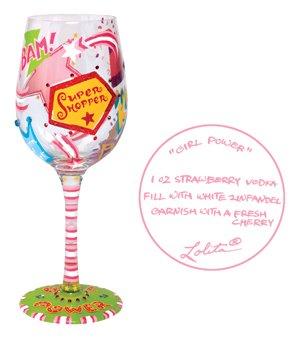 CR Gibson Lolita Acrylic Margarita Drinkware Set of 2 Strawberry
