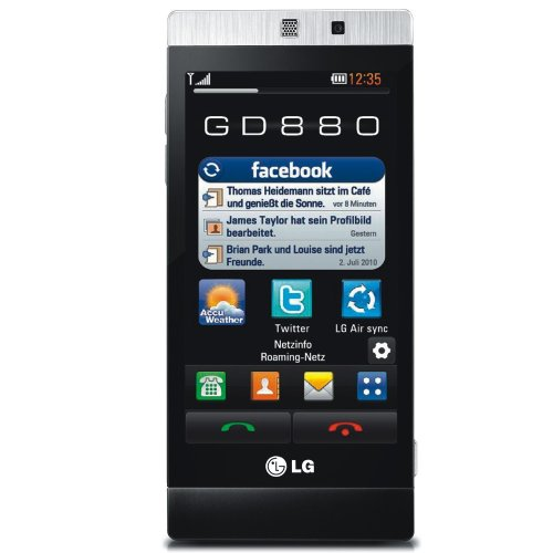 LG GD880 Mini - Mobile phone - 3G - WCDMA (UMTS) / GSM - touch - black