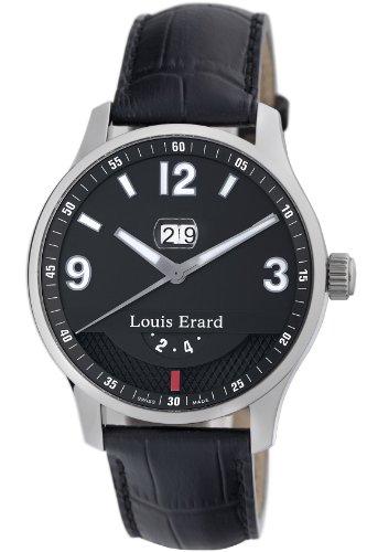 Louis Erard 82224AA02.BDC51 - Orologio da polso da uomo, cinturino in pelle colore nero