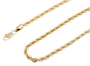 JOTW 3 Pieces Of Gold 4Mm 20 Inch Rope Chain Necklace