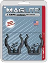 """Mag Instrument ASXD026 2-Pack """"D"""" Cell Flashlight Mounting Bracket Clamp - Quantity 12"""