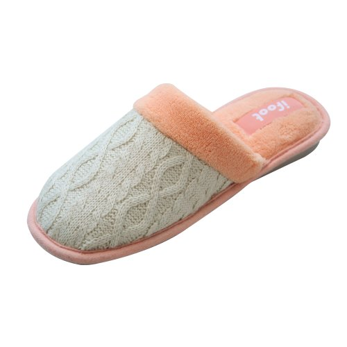 Image of Ifoot Women' Fabric Wool Toasty Cuff Bootie Slipper (B009XPB9EE)